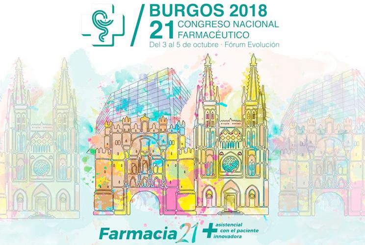 Portada del congreso con imagen ilustrada de la catedral de Burgos