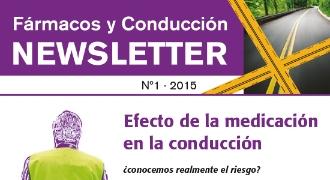 Portada de la 1ª Newsletter Fármacos y Conducción