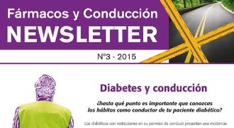 Portada de la 3ª Newsletter Fármacos y Conducción