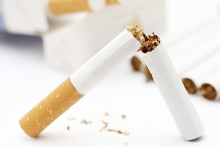 Imagen de un cigarrillo roto