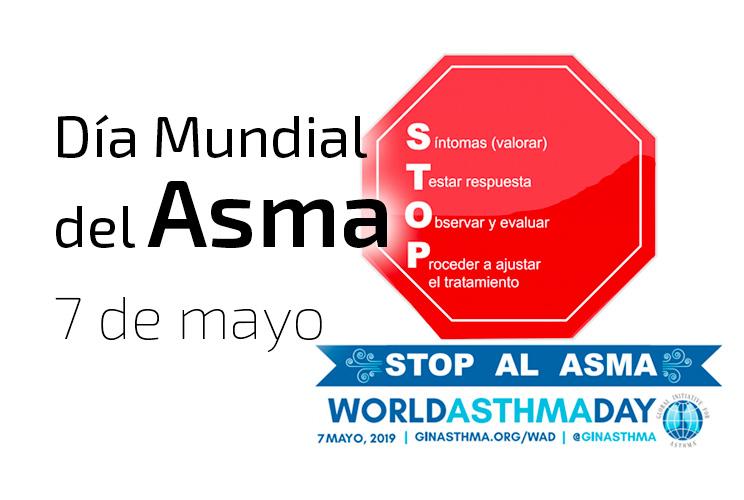 """Imagen de una señal de STOP con el lema """"Stop al Asma"""""""