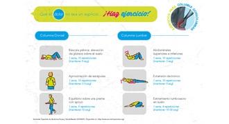 Imagen con la tabla de ejercicios para el dolor