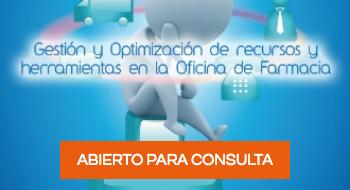 Imagen de la portada Curso Gestión y Optimizació de recursos y herramientas en la oficina de farmacia