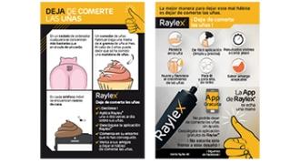 Imagen del flyer de Raylex con motivos para dejar de morderte las uñas