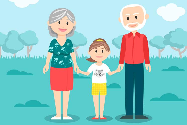Imagen de una ilustración de una familia