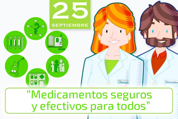 Imagen de unas ilustraciones con farmacéuticos