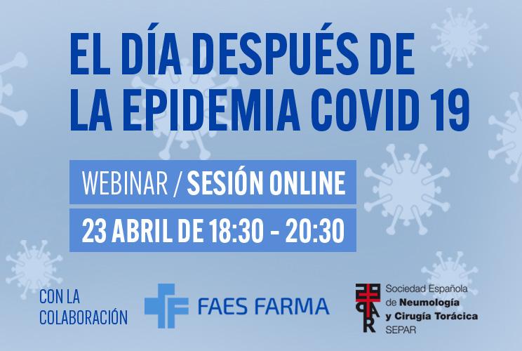 Imagen con la portada del evento de la sesión online de la SEPAR
